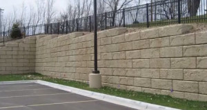 Commercial Redi-Rock Retaining Wall in Cumming GA