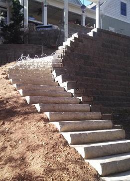 Stone steps beside Cumming GA wall