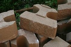 Modular Retaining Wall Blocks - Buff Colored
